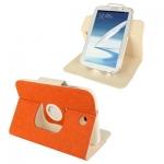 ซองหนัง แบบพลิกแนวนอน หมุนได้ 360 องศา 2สี Samsung Galaxy Note 8.0 (N5100) (Orange)