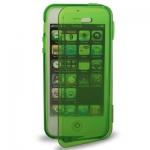 Case เคส Pure Color Horizontal Flip TPU iPhone 5 (Green)