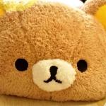 Rilakkuma Fluffy Cushion หมอนอิงหน้าน้องหมีนุ่มนิ่ม สอดมือได้ (ซื้อ 3 ชิ้น ราคาส่งชิ้นละ 420 บาท)