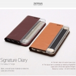 Zenus : Signature Diary, Genuine Leather Case For Galaxy S7 Edge