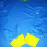 เสื้อคนงาน ผ้า IB สีฟ้าทะเล