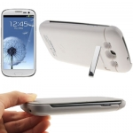 Leather Case + 3200mAh Portable Power Bank Samsung Galaxy S 3 III (White)