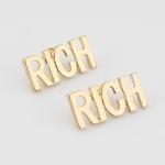 $$$ ต่างหูเรียกทรัพย์ RICH Gold earing ต่างหูสีทองเรียกทรัพย์ ใส่ปุ๊บรวยปั๊บ $$$