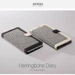Zenus : Herringbone Diary Synthetic Leather Cover Case For Galaxy Note 4