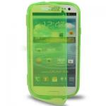 Case เคส แบบฝาเปิด ชนิดใส วัสดุ TPU Samsung Galaxy S3 SIII (i9300) สีเขียวอ่อน