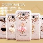 (360-011)เคสมือถือซัมซุง Case Samsung Galaxy J5 เคสพลาสติกใสประดับคริสตัลน่ารักๆ