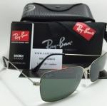 แว่นกันแดด RB 3514 Aviator Flat Metal 154/6G 58-15 3N < เงิน >