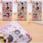 (151-302)เคสมือถือซัมซุง Case Note5 เคสนิ่มใสลายชินจังพร้อมแหวนโลหะตั้งโทรศัพท์
