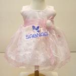ชุดราตรีเด็กสีชมพู สำหรับเด็กวัยหัดเดิน BL382