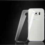 (436-095)เคสมือถือซัมซุง Case Samsung S6 Edge เคสนิ่มใสคลุมเครื่องพื้นหลังเป็นลายจุดเล็กๆ กันรอยนิ้วมือ