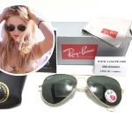 RB 3025 AVIATOR LARGE METAL 001/58 58-14 3P <โพราไรซ์>