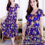 Flame Flower Midi Dress
