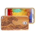 Woodcarving Wave Pattern Detachable Bamboo Material Case เคส Samsung Galaxy Note 3 (III) / N9000 ซัมซุง กาแล็คซี่ โน๊ต 3