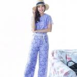 Elegant Lace Jumpsuit ม่วง