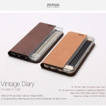 Zenus : Vintage Diary Carrying Case For Galaxy S7 Edge