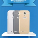 (025-085)เคสมือถือซัมซุงกาแล็คซี่เอส Samsung Case S4 เคสกรอบบัมเปอร์โลหะฝาหลังอะคริลิคทูโทน