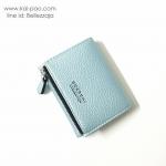 กระเป๋าสตางค์แบบสั้น BOERSHI สีฟ้า ขนาด 3 พับ