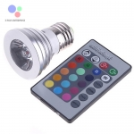 LED Spotlight E27 3W RGB