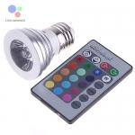 LED Spotlight E27 3W RGB