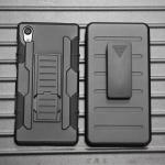 (002-098)เคสมือถือโซนี่ Case Sony Xperia Z5 เคสนิ่มพื้นหลังพลาสติกแข็งกันกระแทกสุดฮิตเหน็บเอวได้