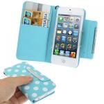 Case เคส Dot Pattern iPhone 5 (Baby Blue)