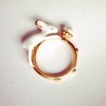 เกาหลีฟีเวอร์ Moon & Rabbit Ring แหวนกระต่ายหมายจันทร์ แหวนเบอร์ 7