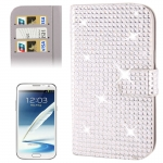 Rubbery Diamond Encrusted for Samsung Galaxy Note II / N7100 (Silver)