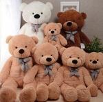 ตุ๊กตาหมีตัวใหญ่ขนาด 100 cm สีชมพู สีขาว สีน้ำตาลอ่อน สีน้ำตาลเข้ม