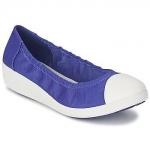 FitFlop F-Pop Ballerina Canvas Mazarine Blue US 7