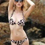 VS Sexy Leopard Bikini Set ชุดว่ายน้ำสุดเซ็กซี่สไตล์ชุดบิกินี่ผ้าสแปนเด็กซ์ลายเสือดาว ไซส์ M