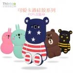 (013-001)เคสมือถือซัมซุง Case Samsung A8 เคสนิ่มตัวการ์ตูนกระต่ายและหมี 3D