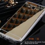 (394-014)เคสมือถือซัมซุง Case Samsung A8 เคสนิ่มใสพื้นหลังอะคริลิคชุบแววเงาสะท้อน
