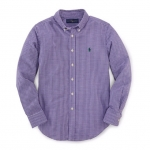 Ralphlauren Gingham Cotton Blake Shirt (Purple Multi)