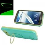 I-Glow เคส พลาสติก + ซิลิโคน (สีเขียว) Samsung Galaxy Note 2