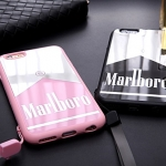 (468-003)เคสมือถือไอโฟน case iphone 6Plus/6S Plus เคสนิ่มพื้นหลังแววลายซองบุหรี่ marlboro