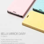 ZENUS : AVOC Bella Mirror Diary Pastel Colors Cover Case for Samsung Galaxy S5, SV, G900