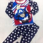 (เด็กโต) ชุดนอน/ชุดลำลองแขนยาว Captain America ผ้ายืดเด้งๆ นิ่ม ใส่สบายค่ะ size 130-170