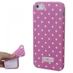 Case Cath Kidston Pink and White Dot เคส TPU iPhone 5
