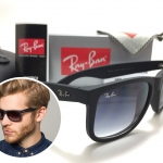 แว่นกันแดด Rayban RB 4165 Justin 601/8G 54-16 3N <เทาเฟด>