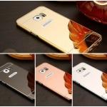 (025-070)เคสมือถือซัมซุง Case Samsung Galaxy S7 เคสกรอบโลหะพื้นหลังอะคริลิคแวววับคล้ายกระจกสวยหรู