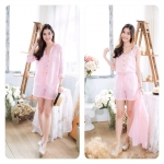Linen Set สีชมพู
