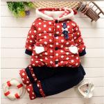 เสื้อกันหนาว+ กางเกง สีแดง สำหรับอายุ 1-4 ปี น่ารักมากค่ะ