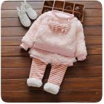 เสื้อ + กางเกง กันหนาวสีชมพู สำหรับอายุ 1-4 ปี น่ารักมากค่ะ