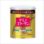 Meiji Amino Collagen Premium (เมจิ อะมิโน คอลลาเจน พรีเมี่ยม) แบบกระป๋องรูปแบบใหม่ สูตรปรับปรุงคุณภาพแบบ Premium