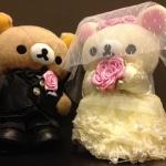 ตุ๊กตา rilakkuma แต่งงาน ขนาด 20 cm