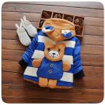 เสื้อกันหนาวหมีน้อยสีฟ้า สำหรับอายุ 1-4 ปี น่ารักมากค่ะ