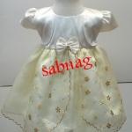 ชุดเสื้อผ้าเด็กมีเสื้อกั๊กในตัวแขนตุ๊กตาเป็นแบบชุดกระโปรงสำหรับเด็กวัยหัดเดินเด็กเล็ก