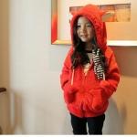 เสื้อกันหนาวสีแดง สำหรับอายุ 3-7 ปี
