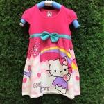 ชุดกระโปรงคิตตี้ Kitty สีชมพูเข้ม สดใสน่ารักมากค่ะ ผ้ายืดเนื้อนิ่ม ผ้าเด้งๆ รับรองใส่สบายค่ะ size 100-140