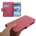 Case เคส ลายหนังจระเข้ สีชมพู Samsung Galaxy S 4 IV (i9500) redictshop